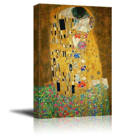 Wall26 - The Kiss by Gustav Klimt Painting - Canvas Art Wall Decor - 32