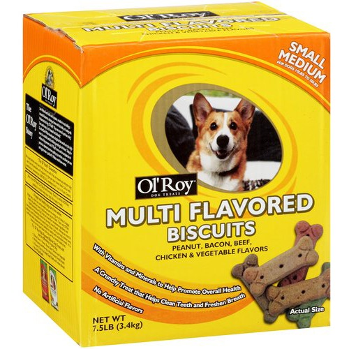 Ol' Roy Multi-Flavored Biscuit Dog Treats, 7.5 lb