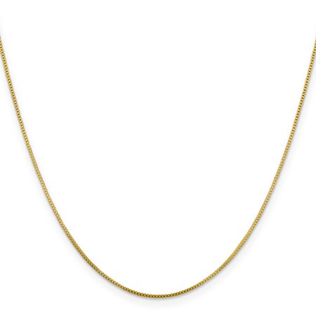 Flash Gold Plated 925 Sterling Silver .8mm Link Box Chain Necklace 18 Inch Pendant