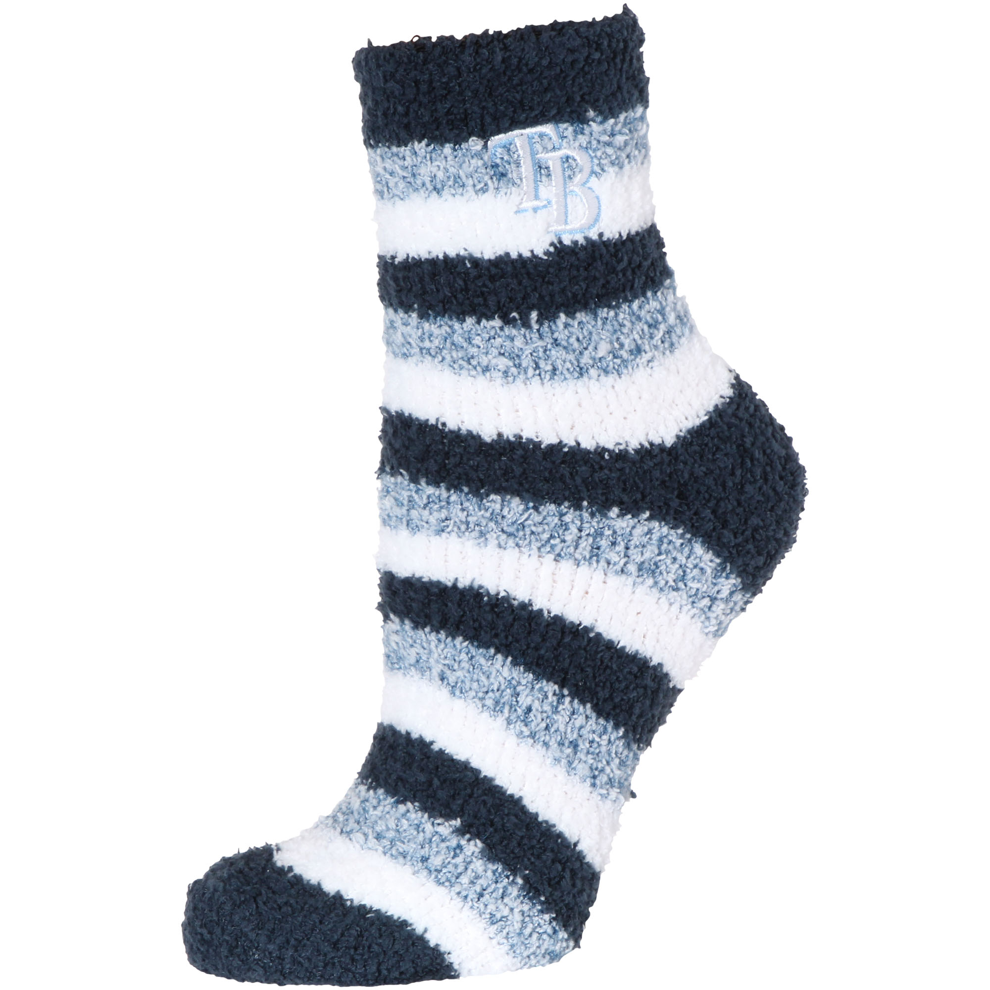 Tampa Bay Rays Women's Fuzzy Steps Quarter-Length Socks - M
