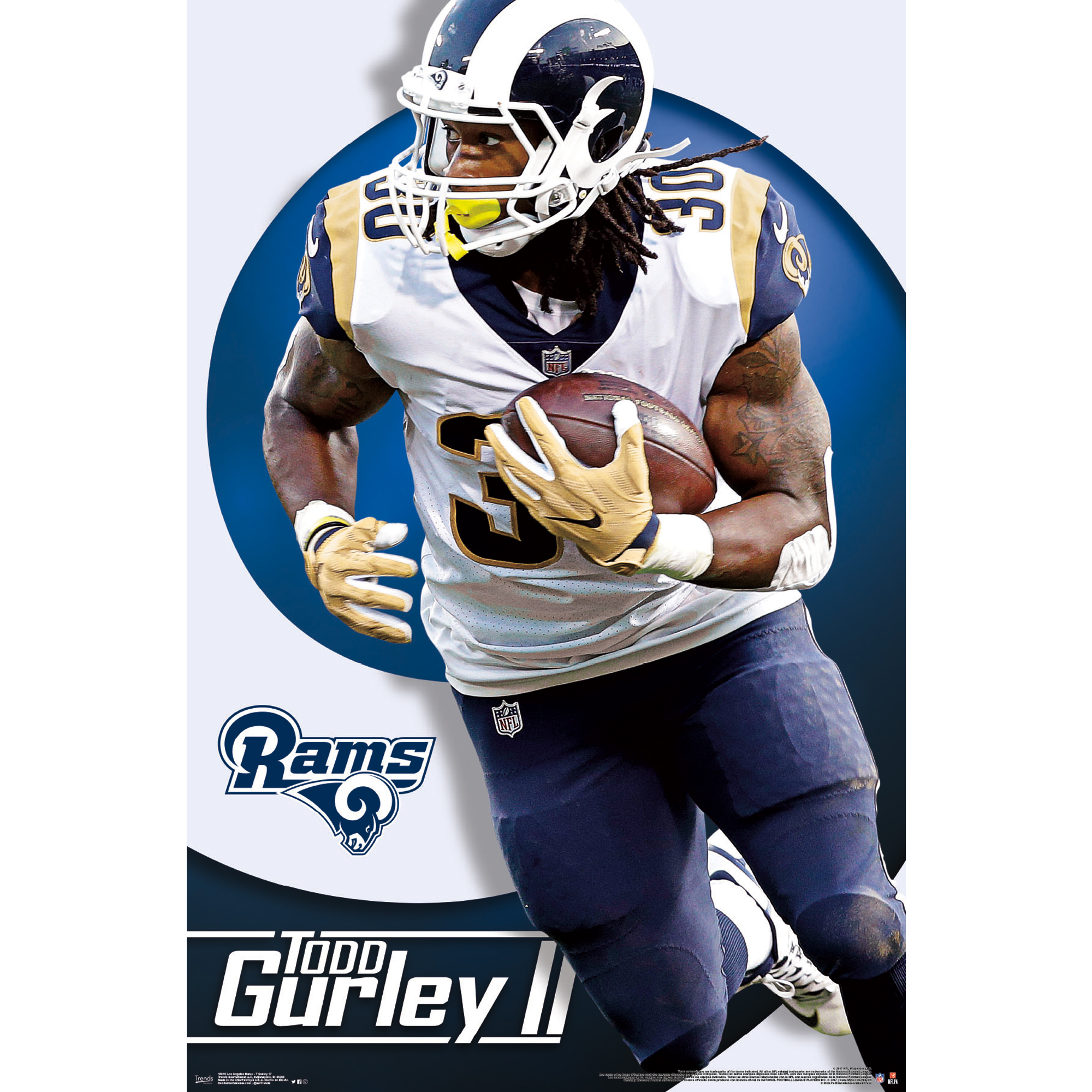 Todd Gurley II Los Angeles Rams 22'' x 34'' Player Poster - No Size
