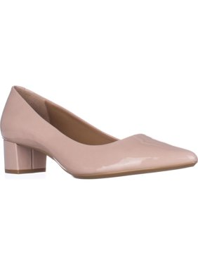 Womens Calvin Klein Genoveva Kitten Heel Dress Pumps, Blush, 7.5 US / 37.5 EU