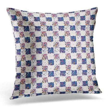 CMFUN Brushed Abstract Multicolor Flecked Checked Check Pillow Case Pillow Cover 20x20 inch