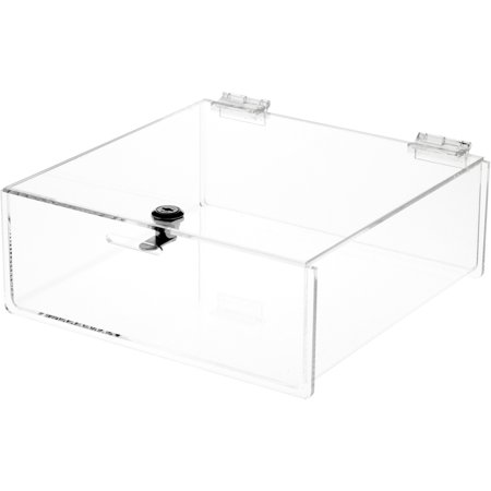 Plymor Brand Clear Acrylic Locking Countertop Display Case, 4