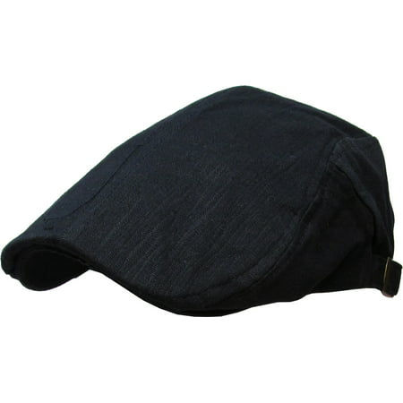 Golf Winter Cap - Solid Cotton Gatsby Cap Mens Denim Hat Golf Driving Summer Cabbie Newsboy
