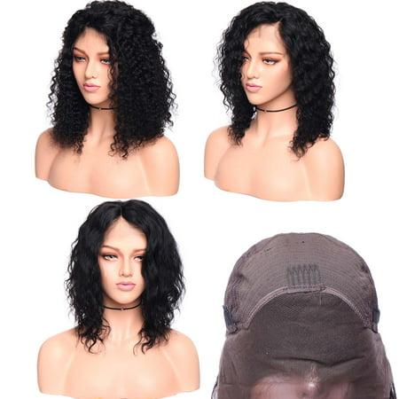 S-noilite Brazilian Virgin Human Bob Wigs Short Bob Human Hair Wigs Curly With Baby Hair For Women Natural