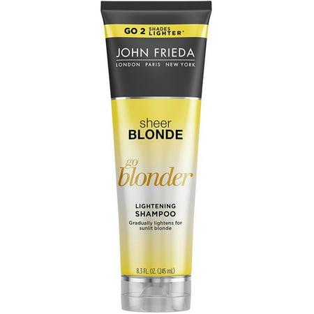 john frieda sheer blonde go blonder lightening shampoo 8 3 oz pack of 3. Black Bedroom Furniture Sets. Home Design Ideas
