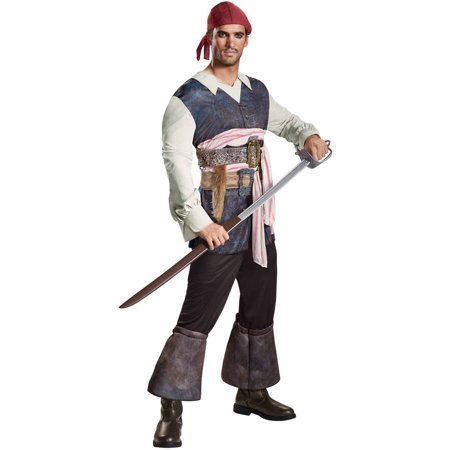 Pirates of the Caribbean 5 Jack Sparrow Adult Men's Adult Halloween Costume - Jack Sparrow Costume Spirit Halloween