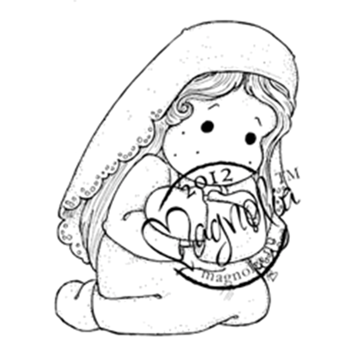 """Nativity Cling Stamp 2.75""""X5.75"""" Package-Loving Holy Tilda"""