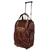 "Dejuno Lightweight 20"" Easy Travel Rolling Carry-On Luggage - Cheetah"