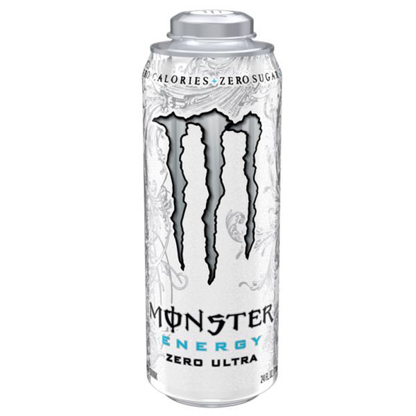 Monster Energy Zero Ultra Energy Drinks 24 oz Cans - Pack of 12