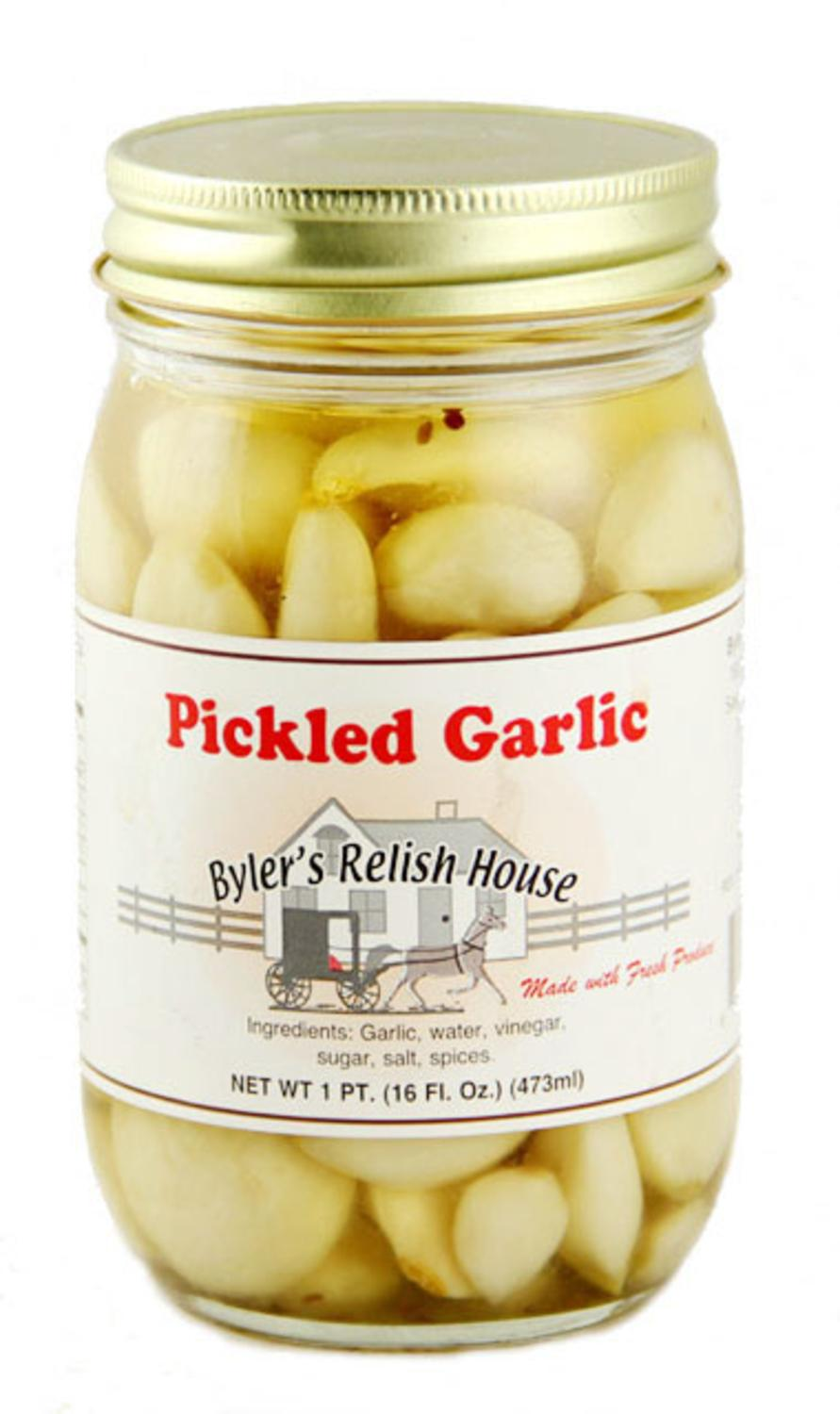 Byler's Relish House Homemade Amish Country Pickled Garlic 16 oz. by Byler's Relish House