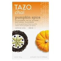 (2 pack) Tazo Chai Pumpkin Spice Black Tea, Tea Bags, 20 Ct