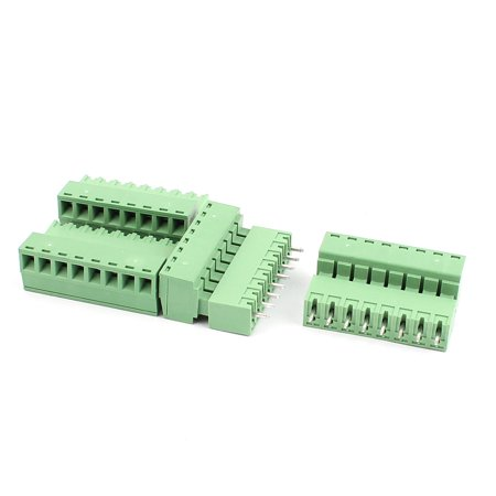 4 Pairs 3 81mm Pitch 8 Pin Male to Female PCB Pluggable Terminal Block  Connector