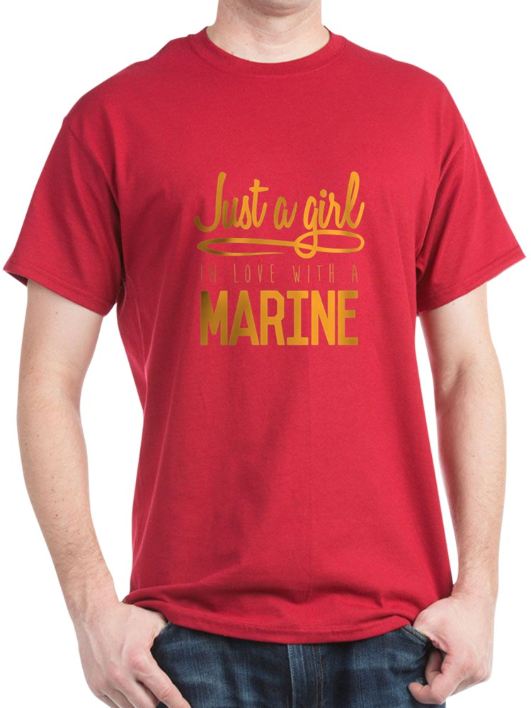 USMC Girl In Love - 100% Cotton T-Shirt
