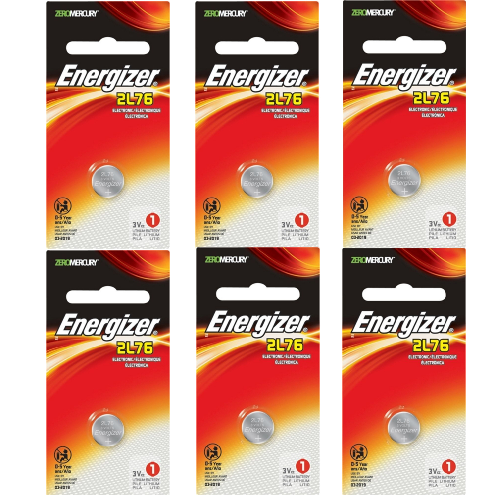 6 Pack Energizer Everready 3.0 Volt Photo Battery 2L76BP