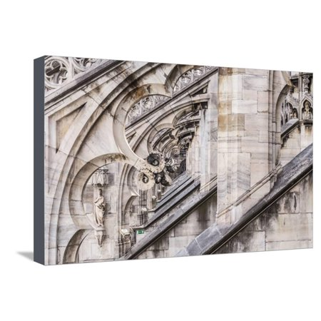 - The Roof of Duomo Di Milano (Milan Cathedral), Milan, Lombardy, Italy, Europe Stretched Canvas Print Wall Art By Julian Elliott