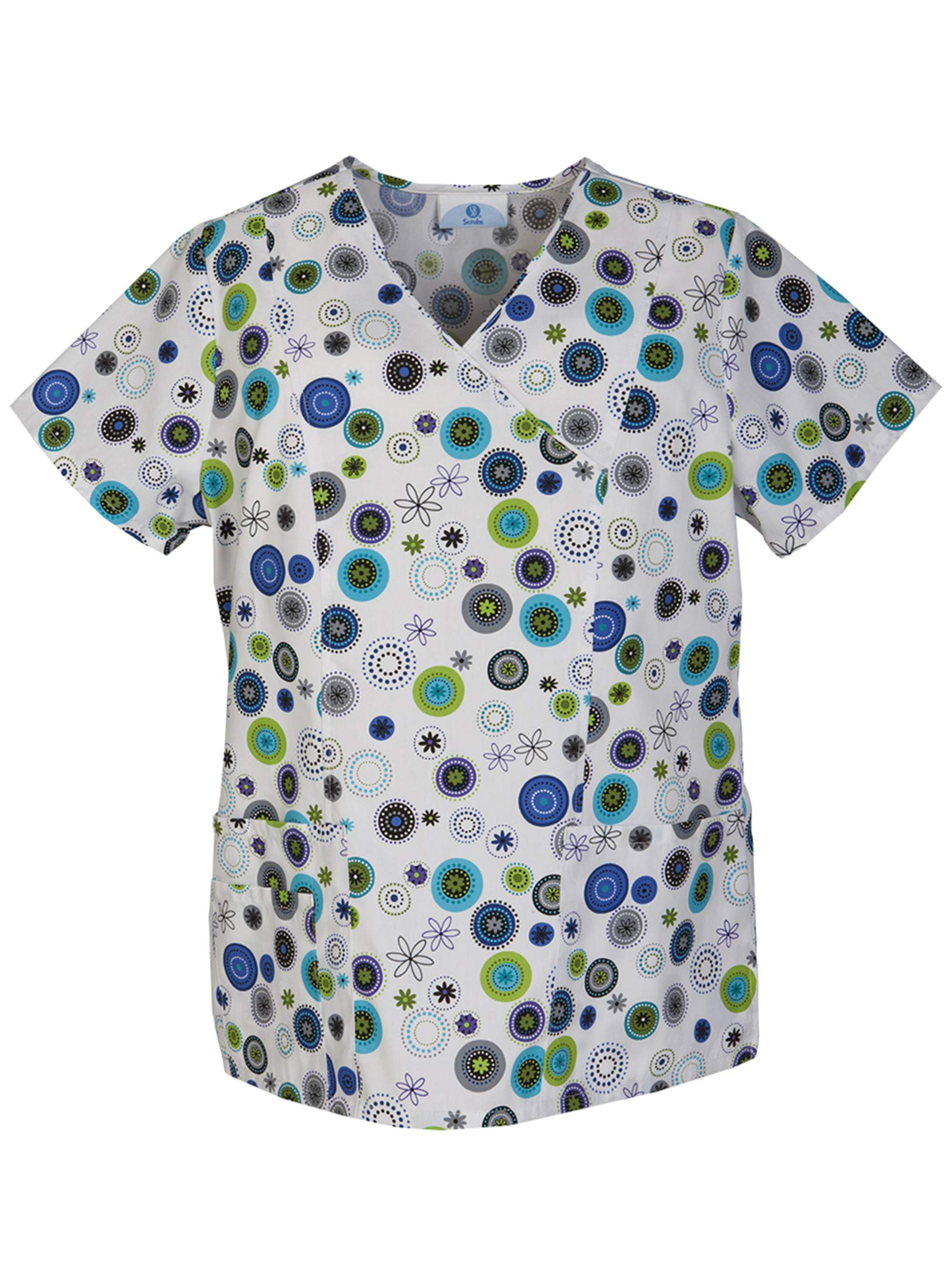 Festive Dots Women's Printed Mock Wrap Top