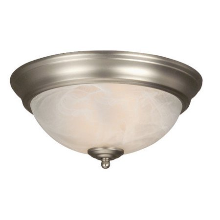 Craftmade X213-OB Arch Pan 13 Inch Alabaster Flush Mount Light Fixture - Oiled Bronze