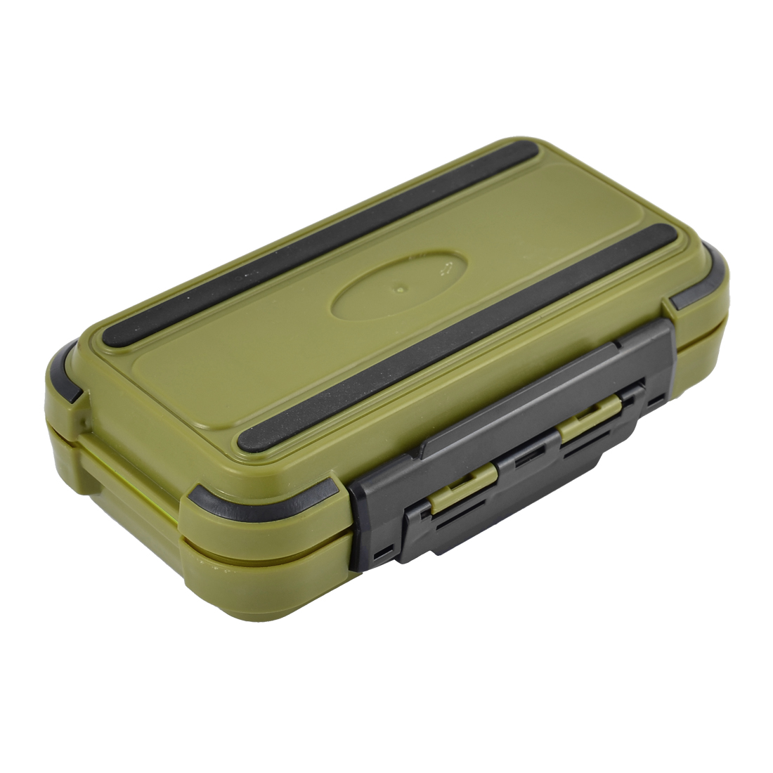 Fishing 24 Compartments Fish Hook Bait Storage Box Fishhook Holder Olive Green