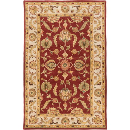 8' x 11' Oriental Patterned Brown and Red Rectangular Hand Tufted Area Throw Rug Brown 8'0'x11'0' Rectangular Rug