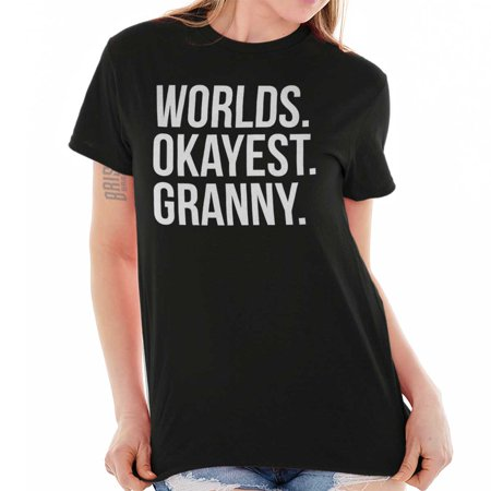 Brisco Brands Okayest Granny Mothers Day Lady Short Sleeve T