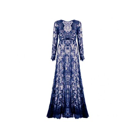 8db27bc77047 VICOODA - VICOODA Summer Women's Lace Floral Boho Long Maxi Dress Hollow  Out Long Sleeve V-neck Beach Dresses Plus Size S-4XL - Walmart.com