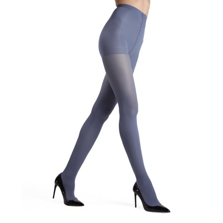 MeMoi Gloss Opaque Tights| MeMoi Women's Tights - Hosiery - Pantyhose Small/Medium / Blue Smoke MO 120