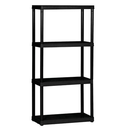 Gracious Living 4-Tier Shelf Light Duty Indoor Garage Storage Shelving Unit (Garage Shelving Storage)