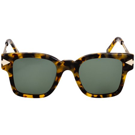 Karen Walker Julius Tortoise Acetate Frame Green Lens Ladies Sunglasses (Karen Walker Black Sunglasses)