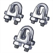 TekSupply AS1028 Stainless Steel Cable Clamp 0.25 in -0.31 in