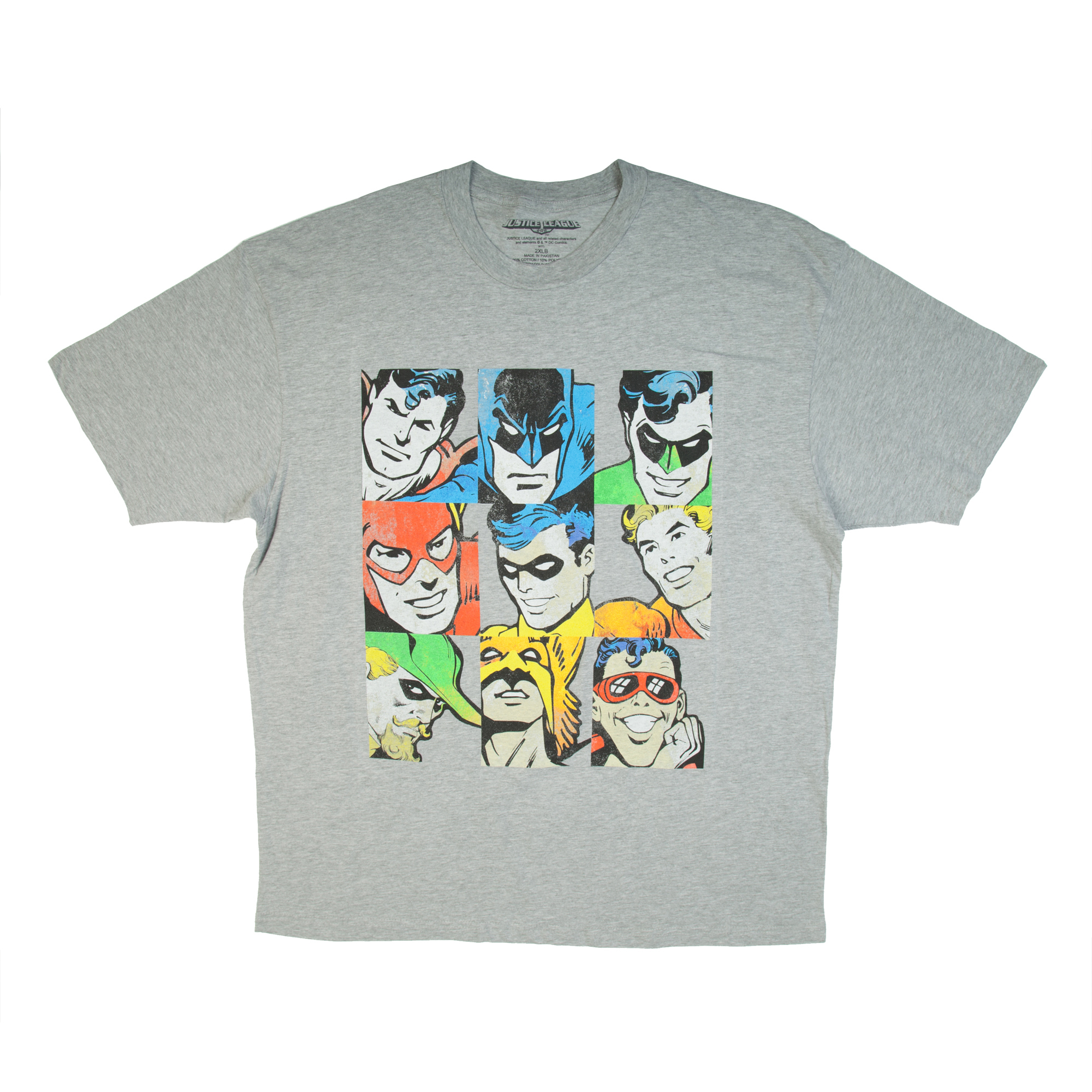 DC Comics Big Men's Classic Justice League Graphic Tee, Up to 6XL