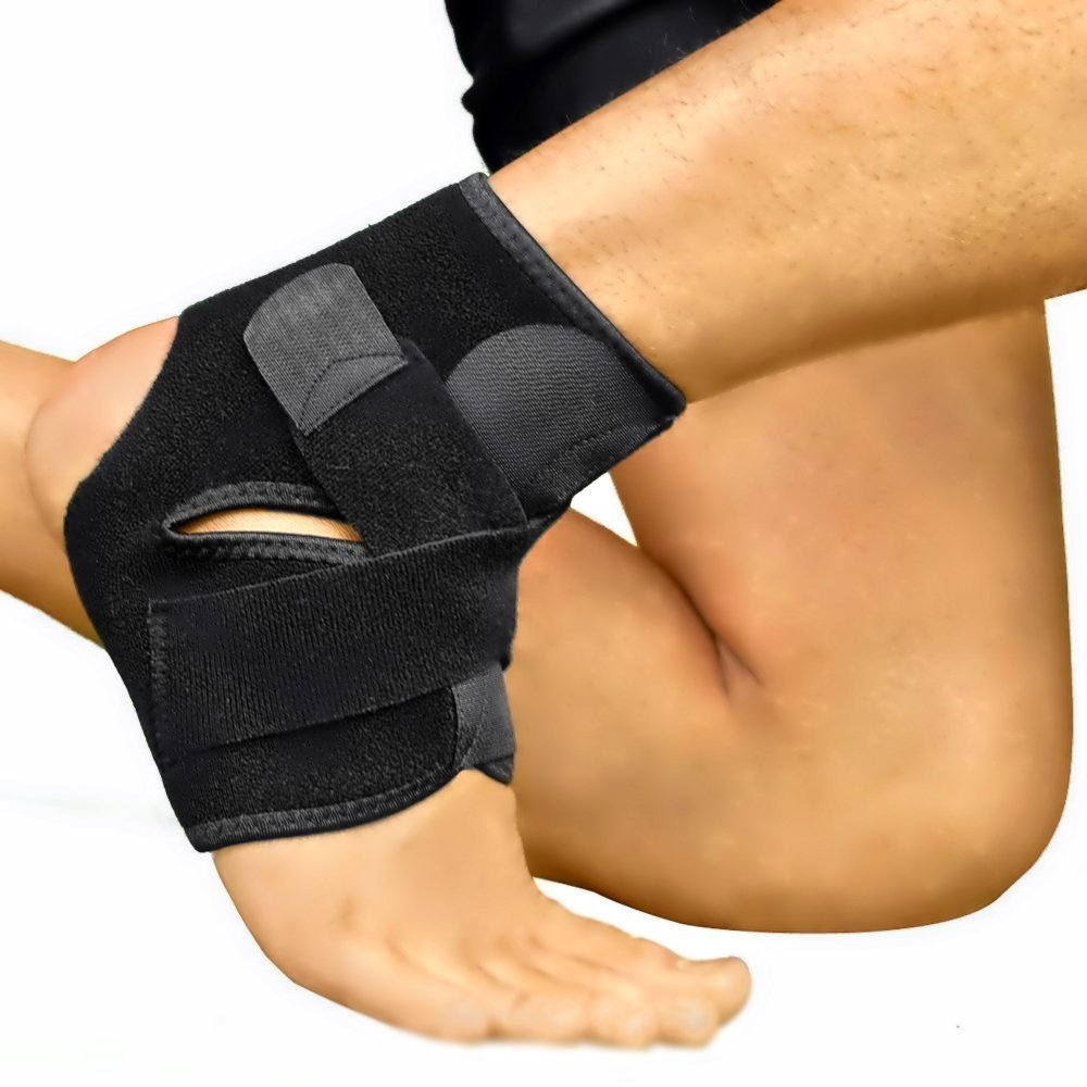Ankle Support by NeoProMedical - Neoprene Breathable Brace for Sprained Ankle - Black Color, One Size