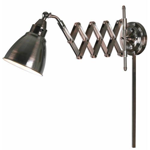 Kenroy Home Floren Swing Arm Lamp, Antique Nickel
