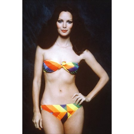 Jaclyn Smith 24X36 Poster Charlie's Angels pose in sexy multi colored bikini