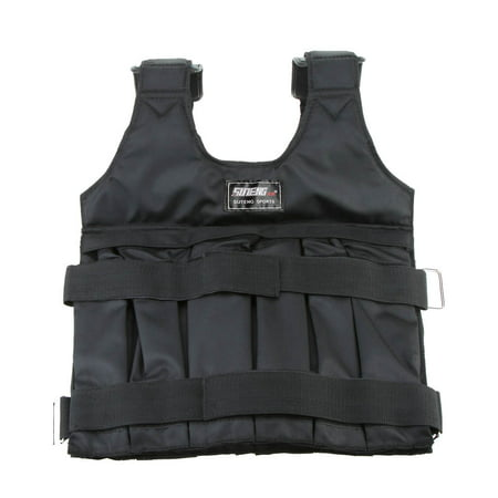 Max Loading 50kg Adjustable Weighted Vest Weight Jacket Exercise Boxing Training Waistcoat Invisible Weightloading Sand Clothing (Empty) - image 1 de 7