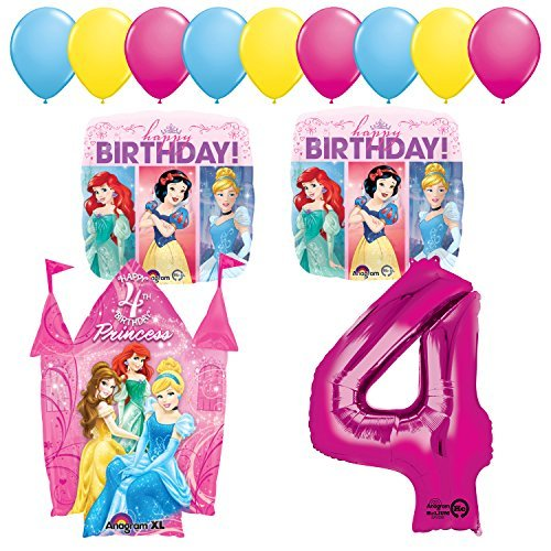 Princess Party 4th Birthday Party Supplies and Balloon Decorations