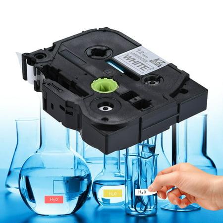 10pcs Bande d'Etiquettes Laminée Noir sur Blanc Compatible pour imprimante d'étiquettes P-touch Brother PT-1010 / PT-2100 / PT-18R / PT-E200 / PT-9500 12mm * 8m - image 4 de 7