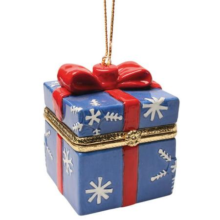 Christmas Decoration - Porcelain Surprise Ornaments Box - Snowflake Box Porcelain Christmas Box