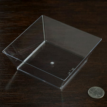 BalsaCircle 12 pcs 10 oz. Plastic Square Disposable