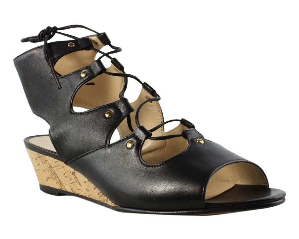 Amalfi Womens Black Platform & Wedges Sandals Size 6.5 New by Amalfi