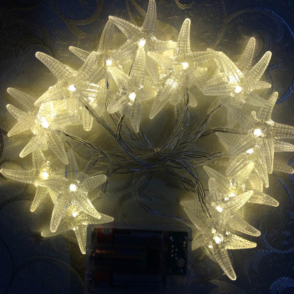 Mosunx 2M 20LED Starfish Light String Wedding Christmas Party Decoration