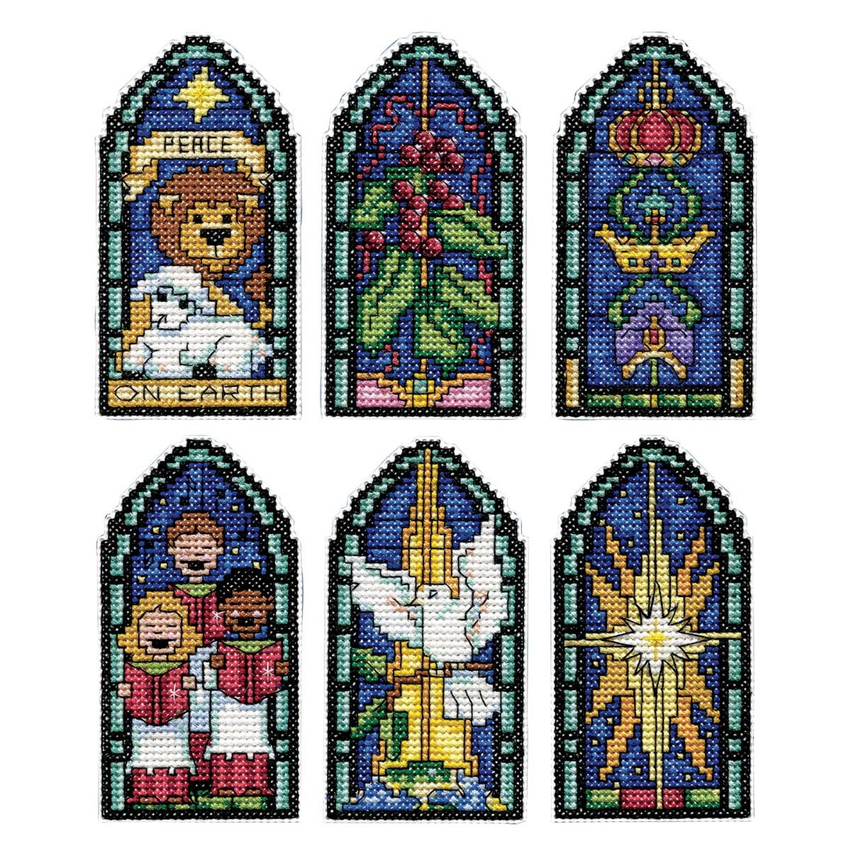 Design Works™ Stained Glass Ii Ornaments Counted Cross-Stitch Kit