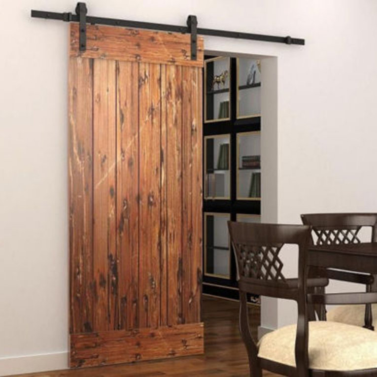 5.5ft Interior Sliding Barn Door Hardware Track Rail Kit Country Style American Steel for Wooden & 5.5ft Interior Sliding Barn Door Hardware Track Rail Kit Country ...