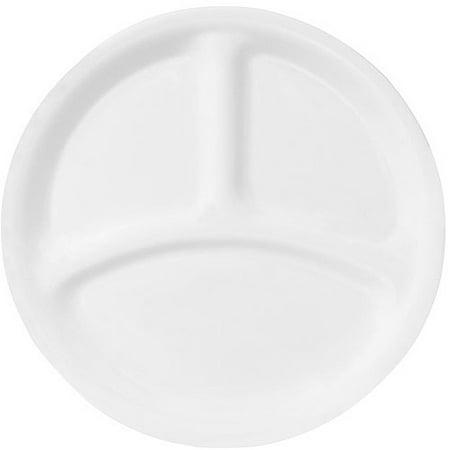 Corelle Livingware 8 5  Divided Dish Winter Frost White  Set Of 6