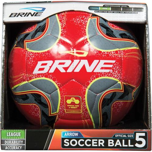 Brine Arrow Soccer Ball, Red, Size 5