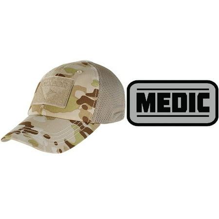 Condor Cap Mesh MultiCam Arid + MEDIC PATCH GREY - Walmart.com d83c944438c