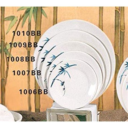 Thunder Group Rose Collection 12-Pack Plate, 7-7/8-Inch, Melamine, White Rose Collector Plate
