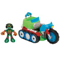 Teenage Mutant Ninja Turtles Pre-Cool Half Shell Heroes Motorcycle Tank with Raphael Vehicle and Figure