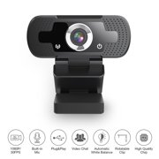 HD Webcam, 1080P Full HD Webcam with built-in Mic, USB PC laptop webcam,Plug& Play Live Streaming Webcam for Video Calling Class Conference Graming Compatible